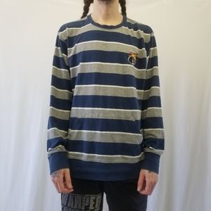 The Hundreds Blue, Grey and White Striped Sweater